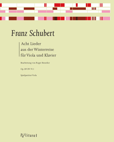 """Eight Songs from """"Winterreise"""" for Viola and Piano"""