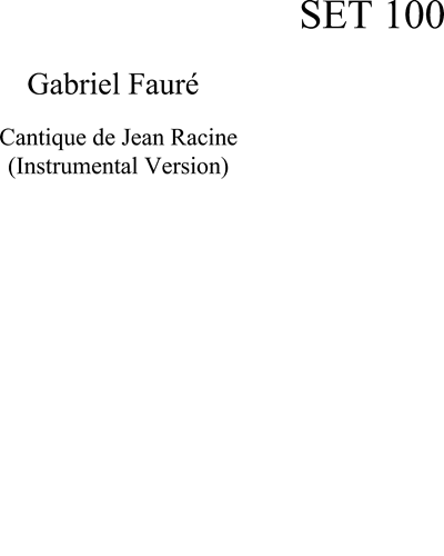 Cantique De Jean Racine (instrumental version)