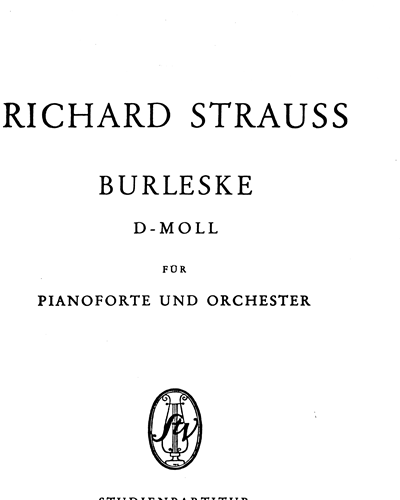 Burleske in D minor