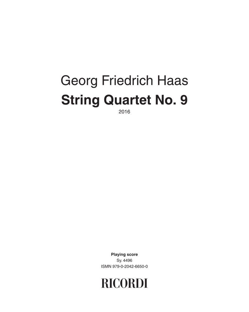 String Quartet No. 9