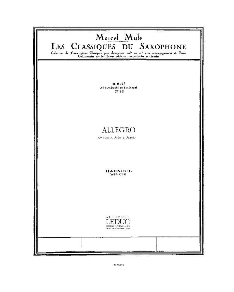Allegro (Les Classiques du Saxophone No. 93)