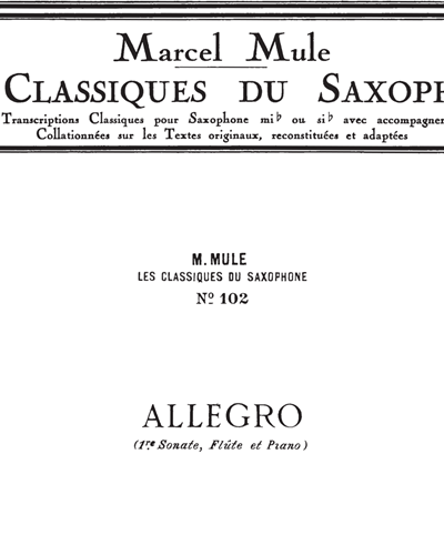 Allegro (Les Classiques Du Saxophone No. 102)