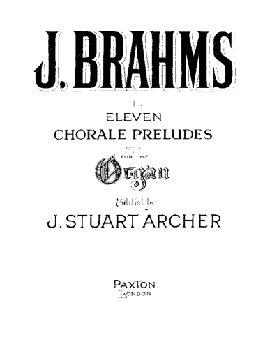 Eleven Chorale Preludes for Organ