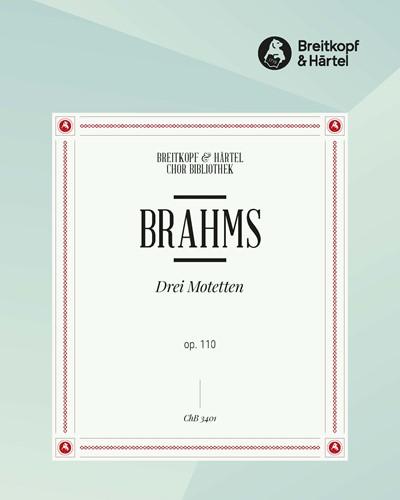3 Motetten op. 110