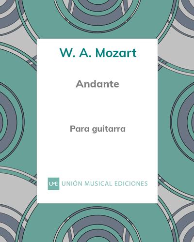 """Andante (de la """"Sonata No. 2"""" K. 280)"""