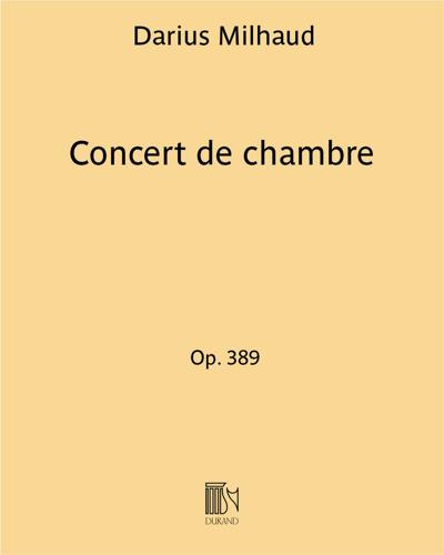 Concert de chambre Op. 389