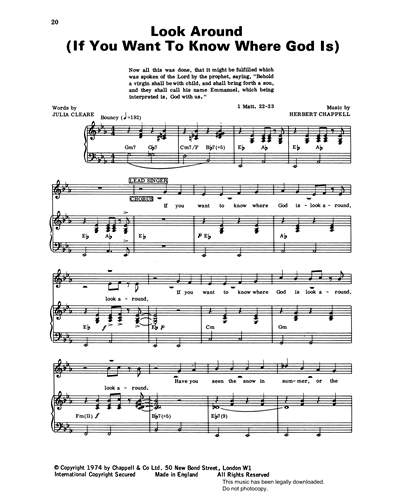 Look Around (If You Want To Know Where God Is) (from 'Carols For Today')