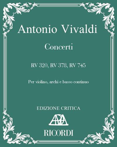 Concerti RV 320, RV 378, RV 745