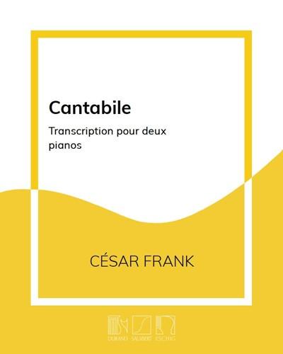 """Cantabile (extrait des """"Œuvres d'orgue"""")"""