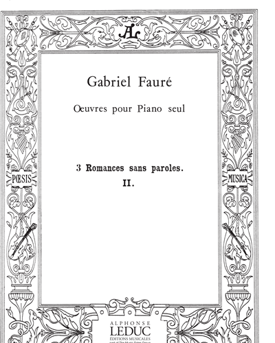 3 Romances sans paroles Op. 17 No. 2