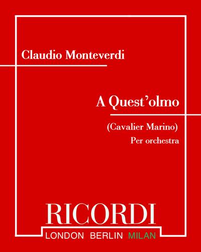 A Quest'olmo (Cavalier Marino)