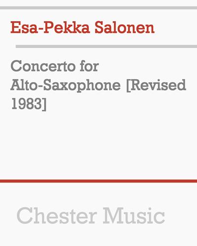 Concerto for Alto-Saxophone [Revised 1983]