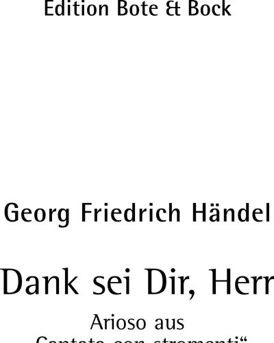 Arioso Dank sei Dir, Herr