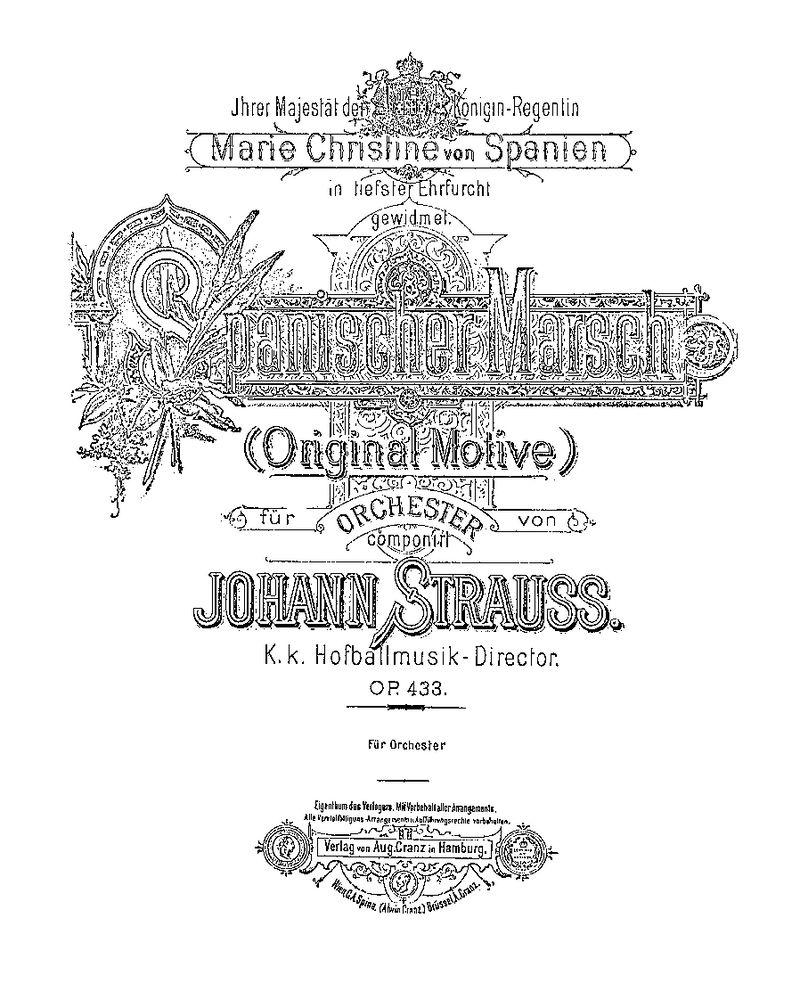 Spanischer Marsch, Op. 433
