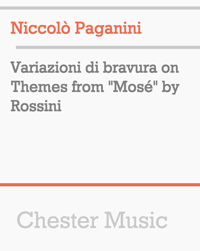 "Variazioni di bravura on Themes from ""Mosé"" by Rossini"