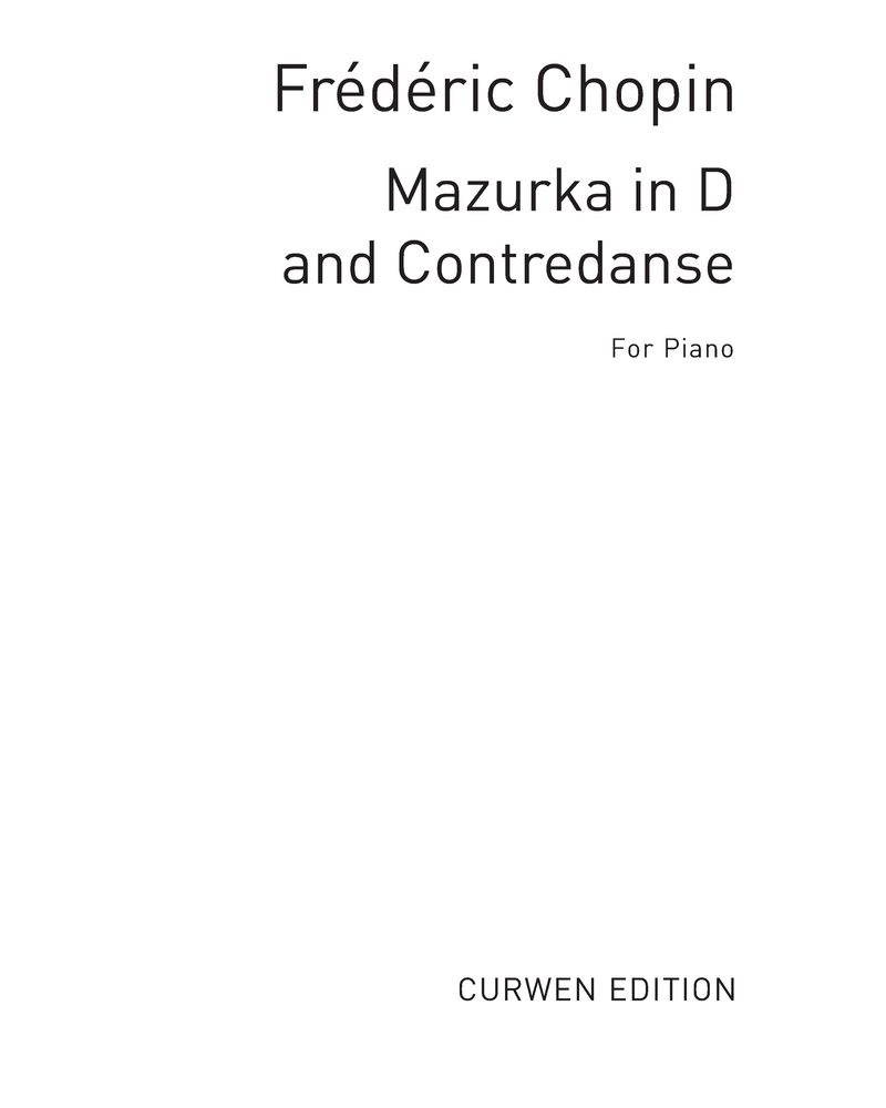 """Mazurka in D"" & ""Contredanse"""