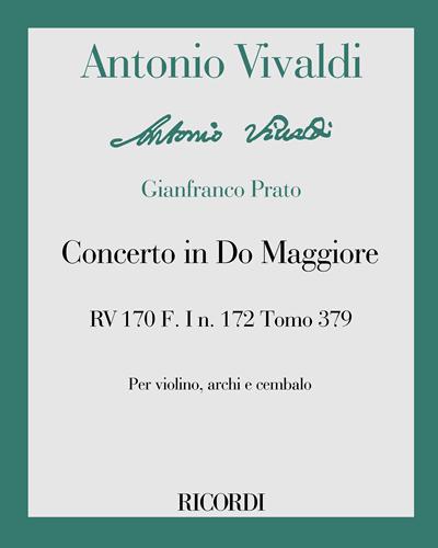 Concerto in Do Maggiore RV 170 F. I n. 172 Tomo 379