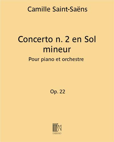 Concerto n. 2 en Sol mineur Op. 22
