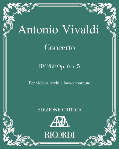 Concerto RV 280 Op. 6 n. 5