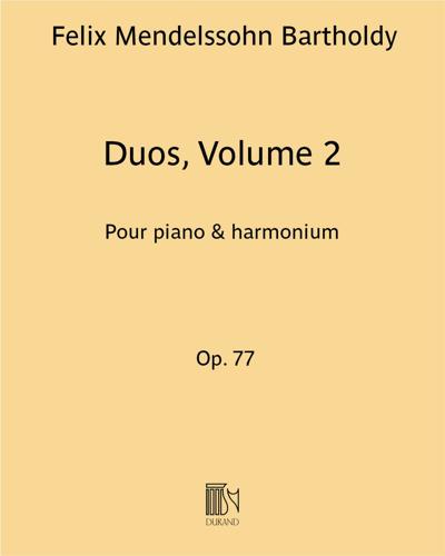 Duos Volume 2: Op. 77 (1 à 3)