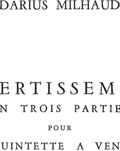 Divertissement en Trois Parties, Op. 299b