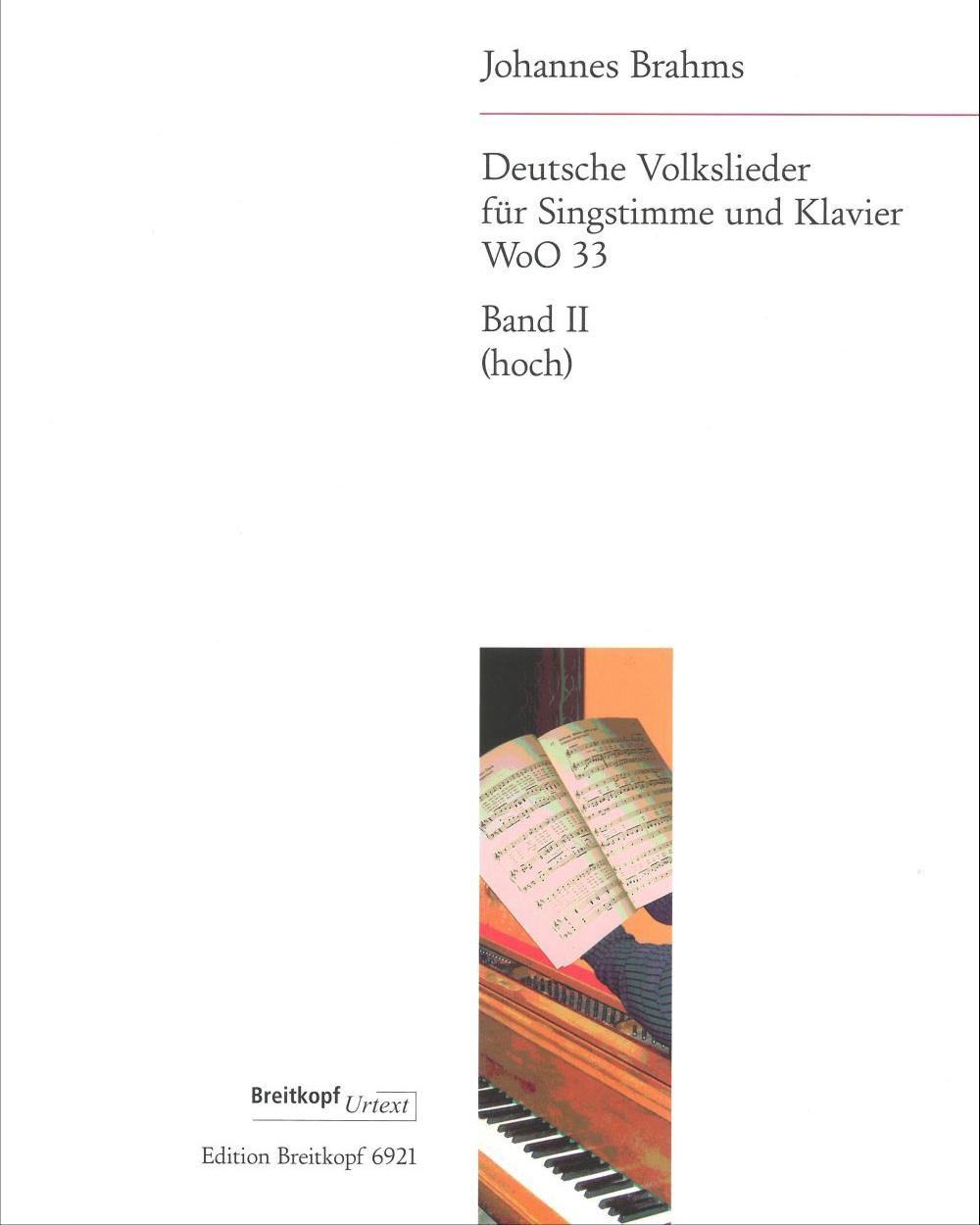 Deutsche Volkslieder WoO 33 - Bd II: Nr. 22 - 42 (Ausgabe für hohe Stimme und Klavier)