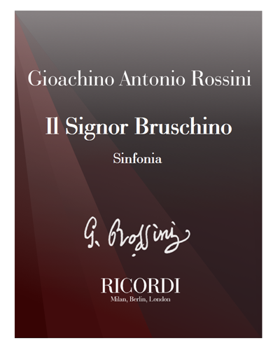 Il signor Bruschino [Critical Edition] - Sinfonia