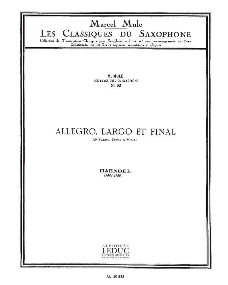 Allegro, Largo et Finale, Op. 1