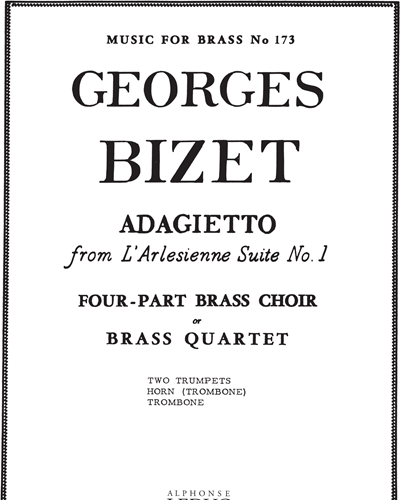 Adagietto (from L'Arlésienne Suite No. 1) No. 173