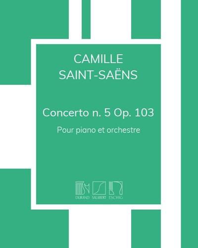 Concerto n. 5 en Fa majeur Op. 103 - Pour piano et orchestre