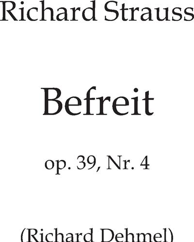 Befreit Op. 39 n. 4