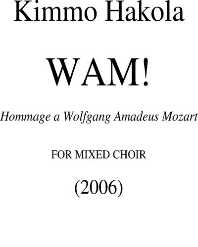 WAM! Hommage à Mozart
