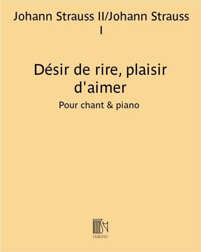 """Désir de rire, plaisir d'aimer (extrait de """"Valses de Vienne"""")"""