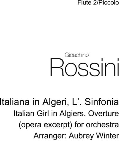 Italiana in Algeri, L'. Sinfonia