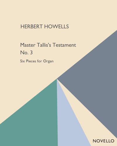 Master Tallis's Testament No. 3