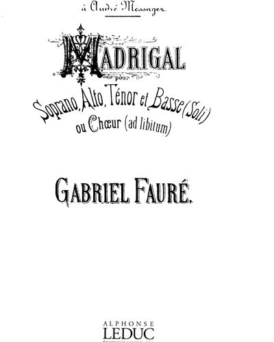 Madrigal Op. 35