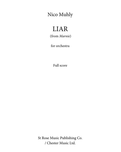 """Liar Suite (from """"Marnie"""")"""