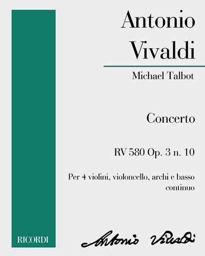 Concerto RV 580 Op. 3 n. 10