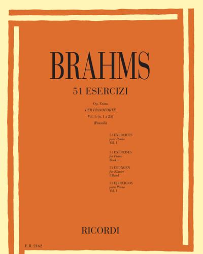 51 Esercizi per pianoforte Vol. 1 (n. 1 a 25)