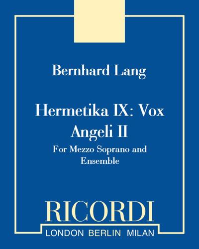 Hermetika IX: Vox Angeli II