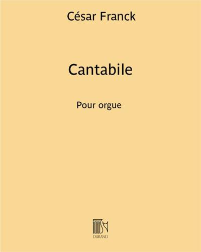 """Cantabile (extrait n. 2 de """"Trois pièces"""")"""