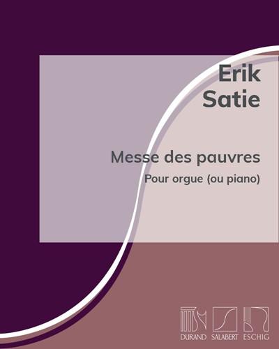 """Messe des pauvres (extraite des """"Œuvres posthumes"""")"""