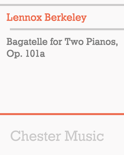 Bagatelle for Two Pianos, Op. 101a