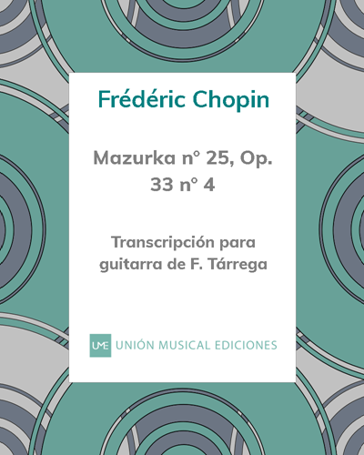 Mazurka n° 25, Op. 33 n° 4
