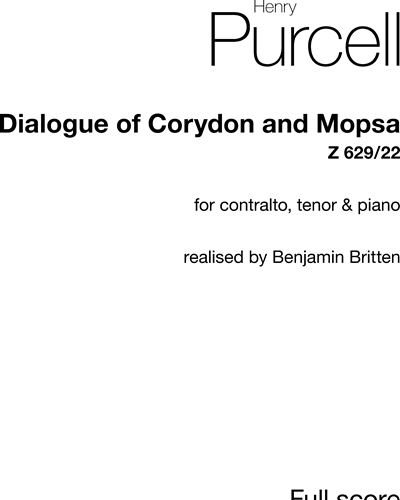 Dialogue of Corydon and Mopsa, Z. 629/22