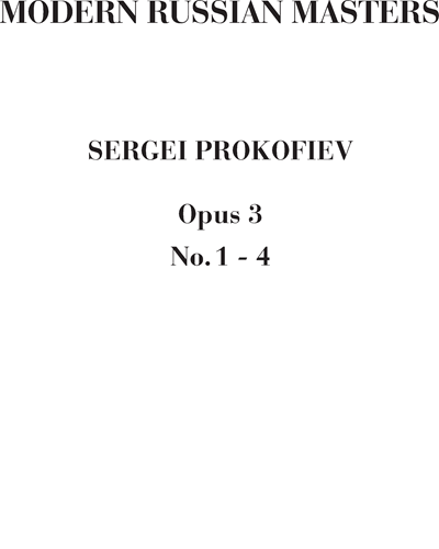 Four pieces for piano Op. 3