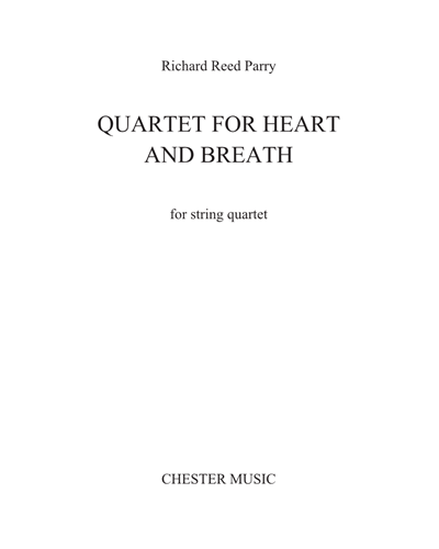 Quartet for Heart and Breath [Version for String Quartet]