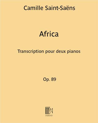 Africa Op. 89 - Transcription pour deux pianos