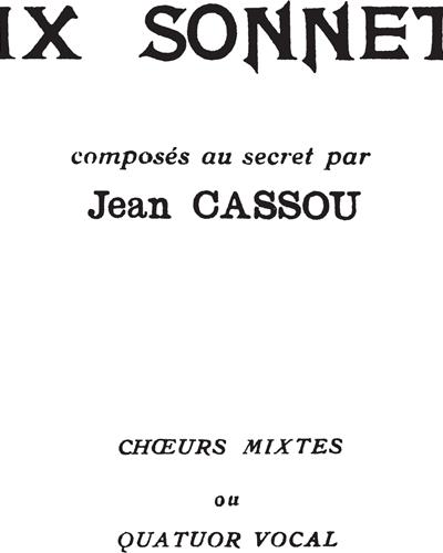 6 Sonnets composés au Secret Op. 266