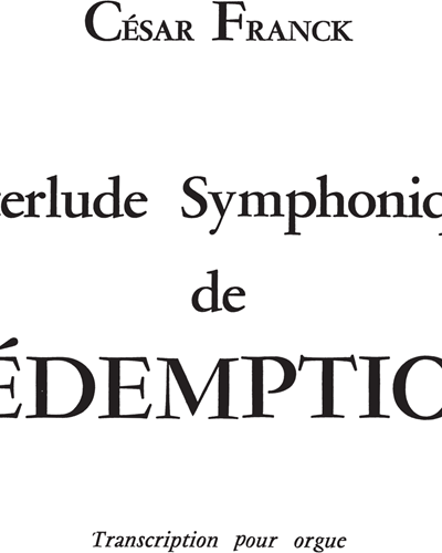 Interlude Symphonique de Rédempetion